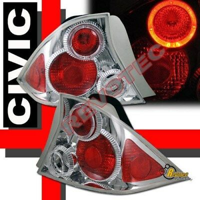 $85 • Buy Halo Tail Lights 1 Pair For 01 02 03 Honda Civic LX DX EX HX 2-Door Coupe