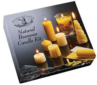 £15.49 • Buy House Of Crafts Natural Beeswax Candle Making Kit Craft Gift HC610
