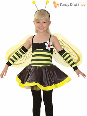 £12.95 • Buy Child Bumble Bee Costume Girls Insect Bumblebee Animal Fancy Dress Kids Book Day