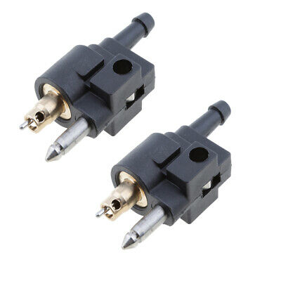 AU14.20 • Buy 2x 6mm Male Fuel Line Connector Fittings For Yamaha Outboard Motor Fuel Tank
