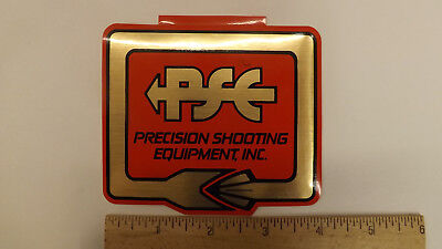 $19.99 • Buy Vtg PSE Archery Percision Shooting Equipment Metallic  4  Decal/Sticker