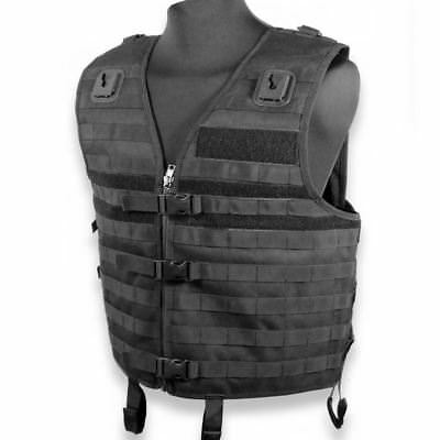 Eclipse Black Police, Security, Airsoft And Paintball Tactical Molle Vest  • 32.49£