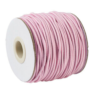 $ CDN10.86 • Buy 1 Roll Pink Round Elastic Cord With Nylon Outside And Rubber Inside 2mm 40m/roll