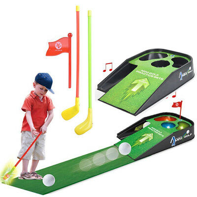Mini Golf Practice Set Kids Fun Toy With Sounds Club Ball Indoor Putting Game • 14.99£