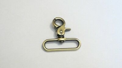 Swivel Metal Haberdashery/Bag/Strap Clip With Brass Finish For 50mm Webbing • 3£