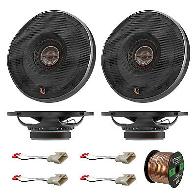 4x Infinity 6.5  Coaxial Car Speakers, 4x Connector Toyota, 50' Wire • 199.90$