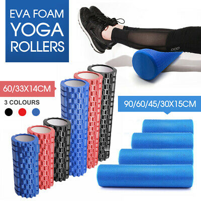 AU18.49 • Buy Yoga Roller Physio EVA Foam Gym Back Training Exercise Massage 30/45/60/90CM