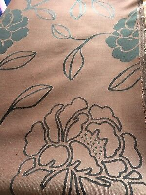 £9.50 • Buy Rich Beautiful Brown / Red Curtain Fabric Upholstery Dunelm Mill Cushion 4.5m
