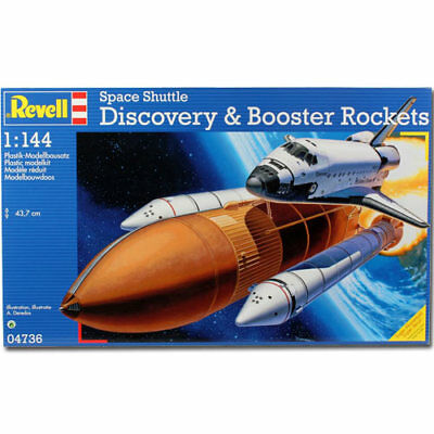 REVELL Space Shuttle Discovery & Booster 1:144 Aircraft Model Kit - 04736 • 30.95£