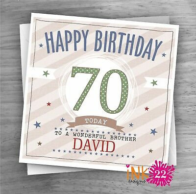£2.97 • Buy Personalised Birthday Card 21st,30th,50th,80th,90th Brother, Uncle, Son, Dad