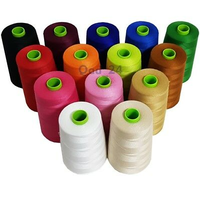 £6.99 • Buy Polyhammer Threads Industrial Cotton Polyester Large 9000m Spools Reels Sewing