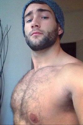 $ CDN4.26 • Buy Shirtless Male Beefcake Hairy Chest Beard Handsome Dude Jock PHOTO 4X6 C574