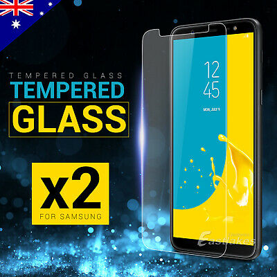 AU3.95 • Buy 2x Tempered Glass Screen Protector For Samsung Galaxy J8 J2 Pro A8 2018 J5