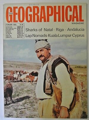 £5.99 • Buy The Geographical Magazine. February, 1968. Sharks Of Natal. Andalucia. Riga.