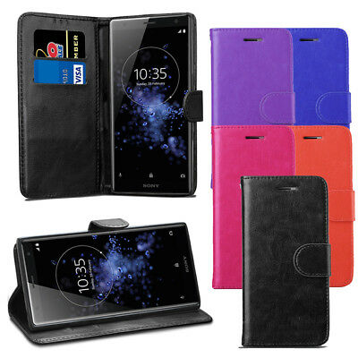 AU5.66 • Buy For Sony Xperia XZ2 Case - Premium Leather Wallet Flip Case Cover + Protector