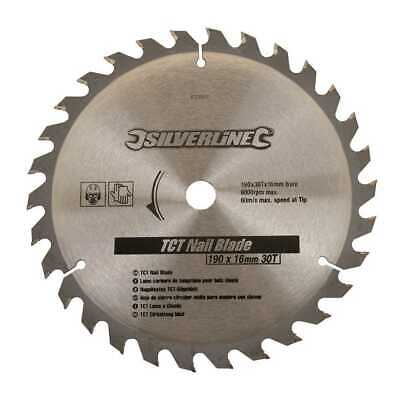 £6.78 • Buy 190mm Diameter Circular Saw Nail Blade 16mm Bore 30T To Fit For Skill Skillsaw