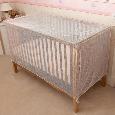 £19.99 • Buy Baby Cot & Cot Bed Cat-Net Strong Pre-Shaped White Mesh Drape-Cover