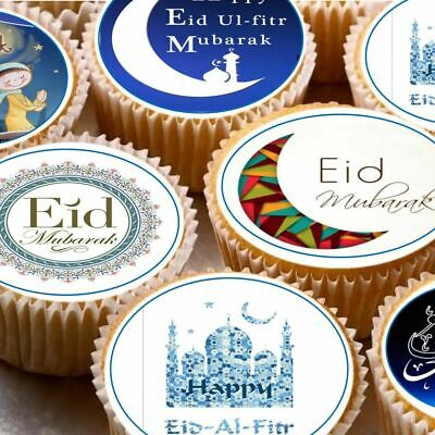 £3.75 • Buy 24 Icing Cake Toppers Decorations Fairy Bun Eid Mubarak Religious Holiday
