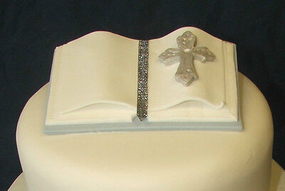 HANDMADE Bible Cake Topper - Blue And White • 8.50£