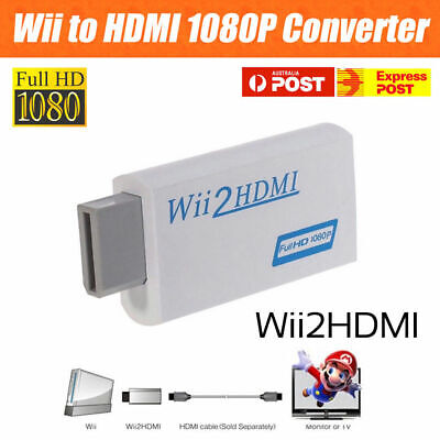 AU9.95 • Buy Wii HDMI Adapter 1080p Wii To HDMI Converter 3.5mm Adapter Audio HD Video Output