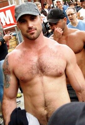 $ CDN4.22 • Buy Shirtless Muscular Male Hunk Hairy Chest Rugged Hot Dude PHOTO 4X6 C2163