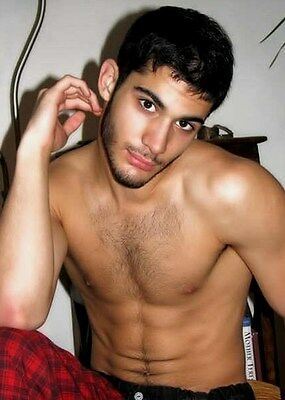 $ CDN4.26 • Buy Shirtless Male Handsome Dude Hairy Chest Beard Dark Hair Guy PHOTO 4X6 N164