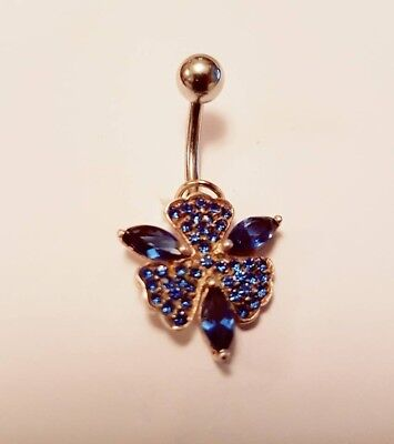 £1.99 • Buy UK Belly Bars New Belly Bar Crystal Dangly Reverse Button Rings Top Drop Navel