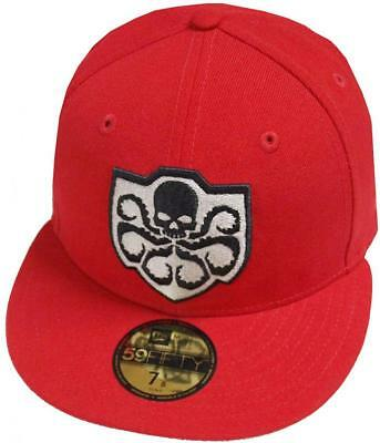 New Era Hail Hydra Scarlet Dc Marvel Cap 59Fifty Fitted Special Limited Edition • 46.37£