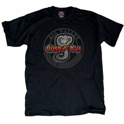 $20.95 • Buy Karate Kid Cobra Kai All Valley Championship Men's Black T-Shirt