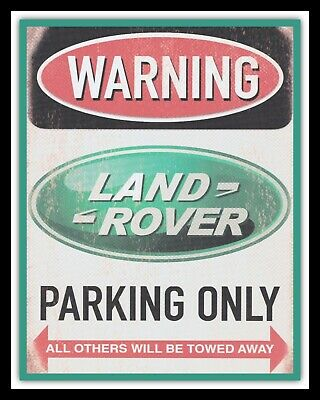 Land Rover Parking Only Defender Freelander Jeep Metal Plaque Tin Wall Sign 634 • 6.99£