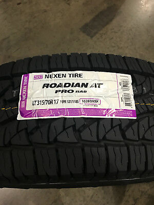 4 New LT 315 70 17 LRE 10 Ply Nexen Roadian AT Pro RA8 Tires • 775$