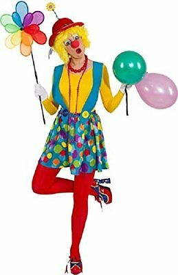 £25.99 • Buy Ladies Cute Spotty Clown Circus Halloween Fancy Dress Costume Outfit UK 4-14