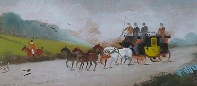 Fine Philip Henry Rideout Original Oil Painting - Coach And Horses / Fox Hunting • 189£