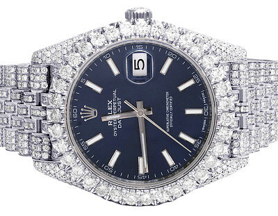 $ CDN28001.37 • Buy Mens Rolex Datejust II 126300 40MM S.Steel Blue Stick Dial Diamond Watch 21.35Ct