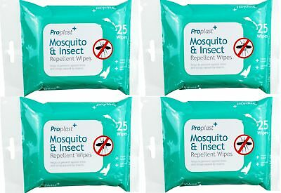 100 X Anti Mosquito Repellent Insect Midges Pest Wipes Holiday Bite Protection • 5.99£