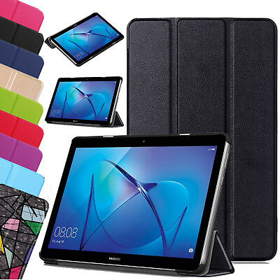Leather Slim Case Smart Stand Folio Cover For Huawei MediaPad Tablet T3 7, 8, 10 • 7.98£