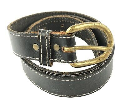 $9.99 • Buy Child's Leather Belt Black With White Stitching 36 X 1 Inches Boy Or Girl Unisex