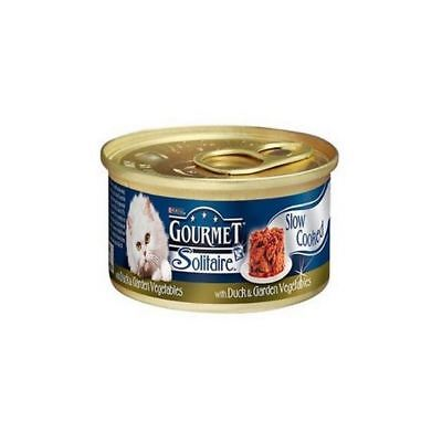 Gourmet Solitaire Cat Food With Duck And Vegetables  Tin (85g) (Pack Of 4) • 6.35£