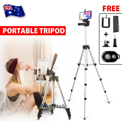 AU24.35 • Buy Universal Telescopic Camera Tripod Stand Holder Mount For Phone IPhone Samsung
