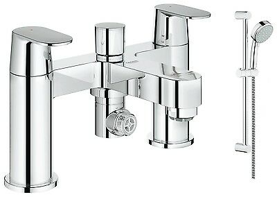 Grohe Eurosmart Cosmo Bath Shower Mixer + Cos Tempesta 100 Slide Rail Kit 2 Mode • 208.95£