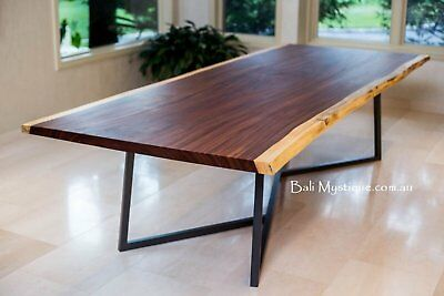AU3450 • Buy Raw Edge Solid 8 Seater Dining Table