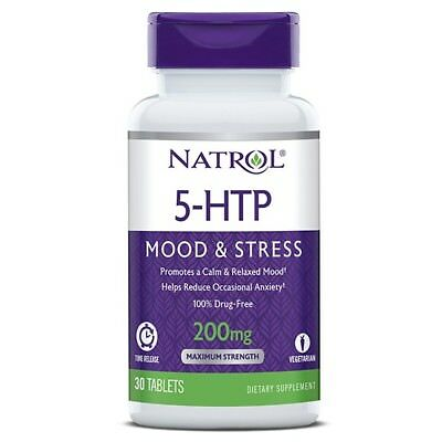 $ CDN25.44 • Buy Natrol 5-HTP TR Time Release 200 Mg Mood, Appetite Control 30 Tabs STRESS RELIEF