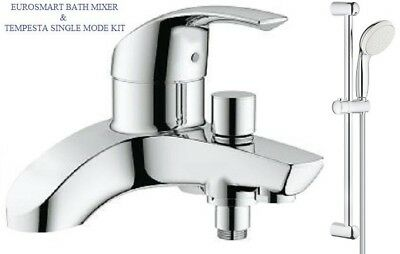 GROHE Eurosmart Lever Bath Shower Mixer Tap Slider Rail Kit 25105000 + 27924001 • 194.95£