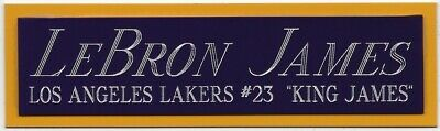 AU16.32 • Buy LEBRON JAMES LOS ANGELES LAKERS NAMEPLATE AUTOGRAPHED Signed BASKETBALL JERSEY