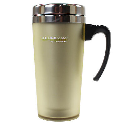 Thermos ThermoCafe 420ml Old Chalk Soft Touch Double Walled Thermal Travel Mug • 10.50£
