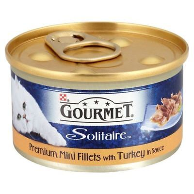 Gourmet Solitaire Premium Fillets With Turkey 85g (PACK OF 6) • 9.85£