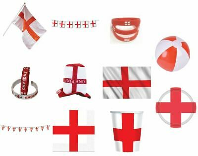 £2.99 • Buy England St George Flag Fancy Dress Party Tableware Accessories