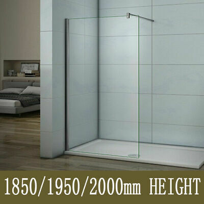 £87.22 • Buy Walk In Wet Room Shower Screen And Tray Enclosure Panel 8mm Easy Glass Cubicle