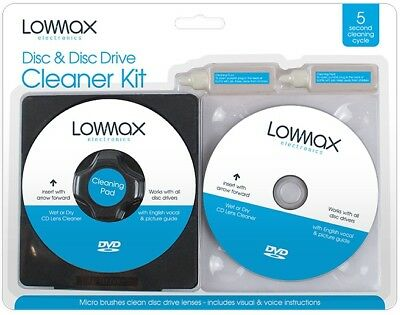 £3.29 • Buy Laser Lens Cleaner Cleaning Kit For XBOX 360 PS3 BLU RAY DVD PLAYER DISC CD