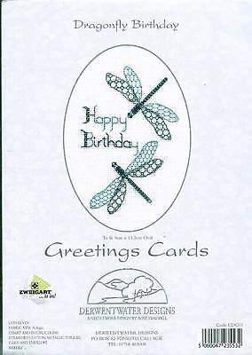 £9.25 • Buy Derwentwater Designs Cross Stitch Kit - Dragonfly Birthday Card